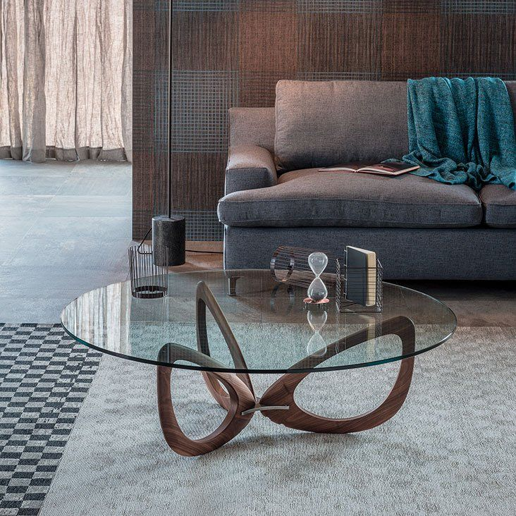 Cattelan Italia Helix Coffee Table Glass Coffee Table Contemporary Living Room Furniture Glass Coffee Tables Living Room Contemporary Living Room Furniture Glass Coffee Table
