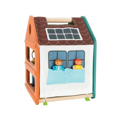 Encourage little ones to use their imagination and bring their own stories to life with this fully-furnished, multi-level play house. Lightweight and eco-friendly, the house comes with two dolls, furniture for every room (plus the outdoor patio!) and a two-sided play mat that serves as a wall, roof, or garden. Find more eco-friendly finds at Giggle.com