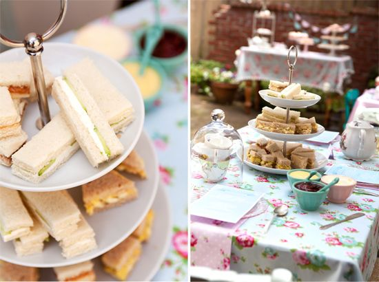 High tea in the garden for little girls and their moms. Great photos and menu ideas.