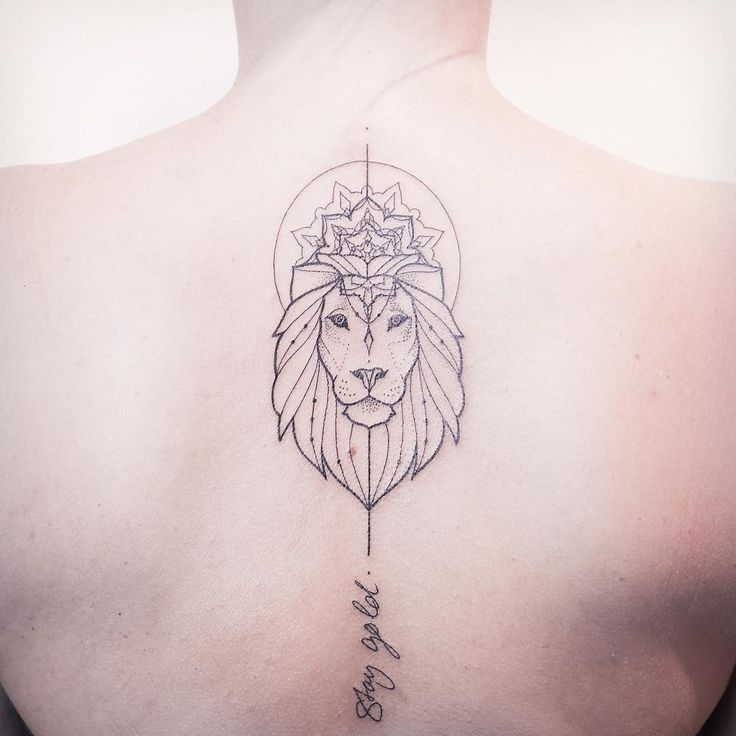 Lion tattoo by Melina Wendlandt.   Blackwork animal tattoos are classy & mysterious. They stand out due to their bold lines and complex patterns and they impose respect and admiration. Enjoy!