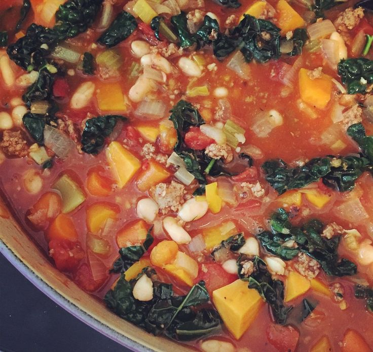 BEEF MINESTRONE WITH TUSCAN KALE — Intersection Coaching #lecreuset #soup #glutenfree #paleoplusbeans #onepotdinner