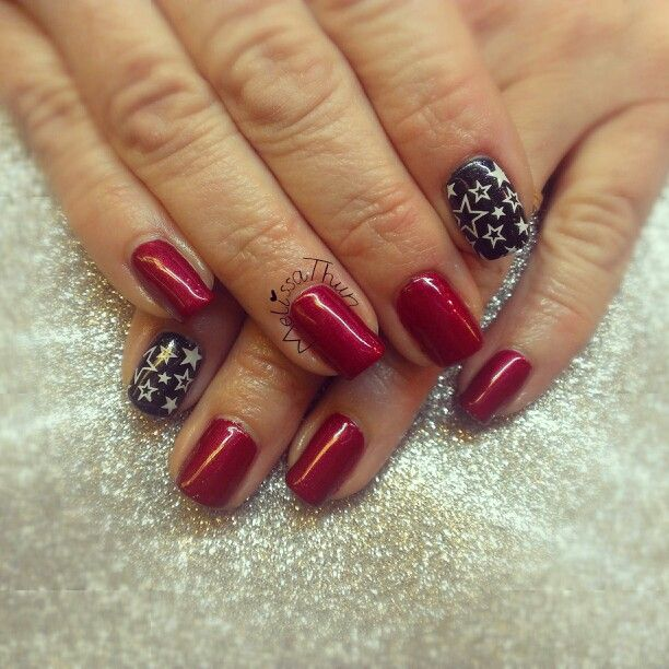 Fourth of July shellac | Nails by MelissaThun | Pinterest