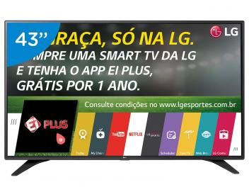 "Smart TV LED 43"" LG Full HD 43LH6000 WebOs - Conversor Digital Wi-Fi 3 HDMI 2 USB"