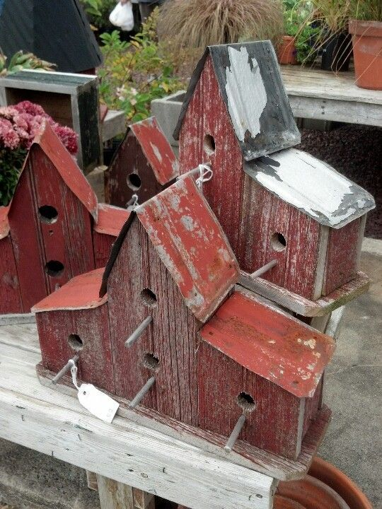 Rustic Church Bird Houses   Via Leona ( Murphy ) Krivda