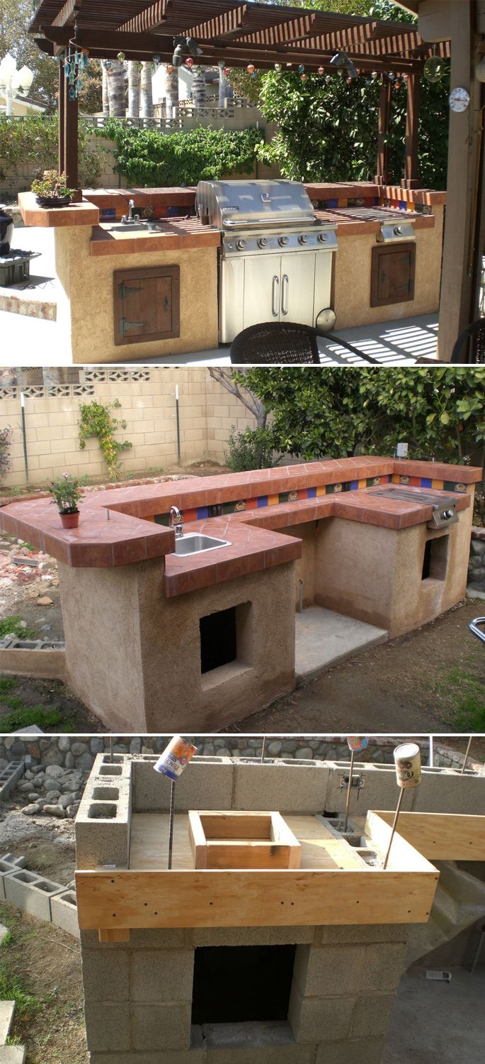 25 best ideas about outdoor kitchen sink on pinterest for Building an outdoor kitchen