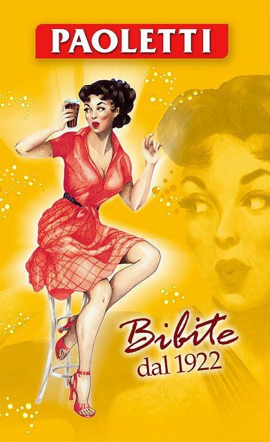 Vintage Italian Posters ~ Paoletti bibite (AP) #illustrator #italian #posters