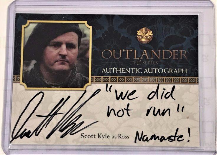 """Outlander Season 2 Autograph Scott Kyle as Ross SK """"We did not run"""""""