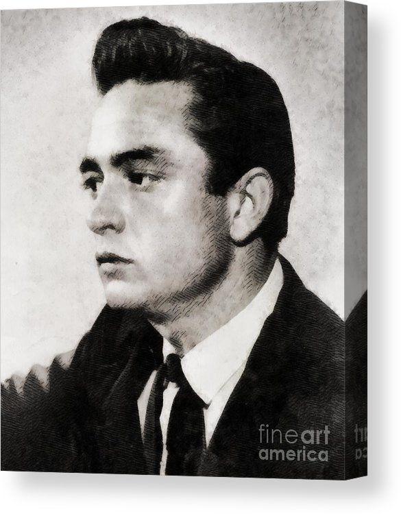 Johnny Cash Singer Canvas Print Canvas Art By Esoterica Art Agency Canvas Prints Johnny Cash Art