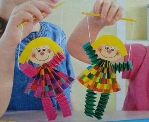 Kağıt katlamayla kukla bebekler yapımı