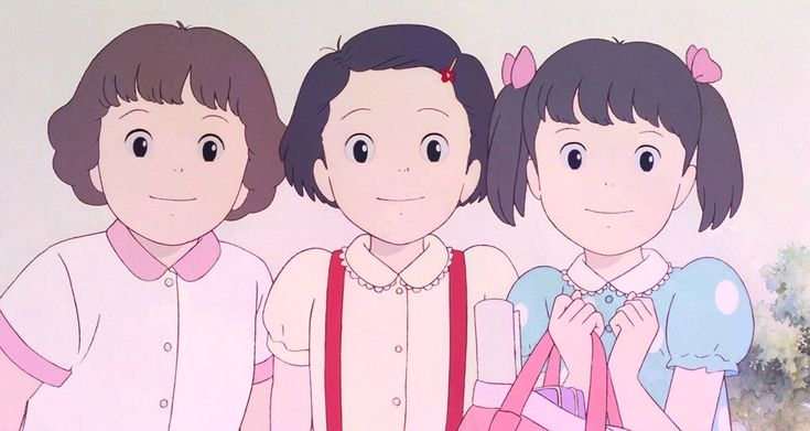 Stephanie Sheh, Madeleine Yen, and Alison Fernandez in Omohide poro poro (1991)