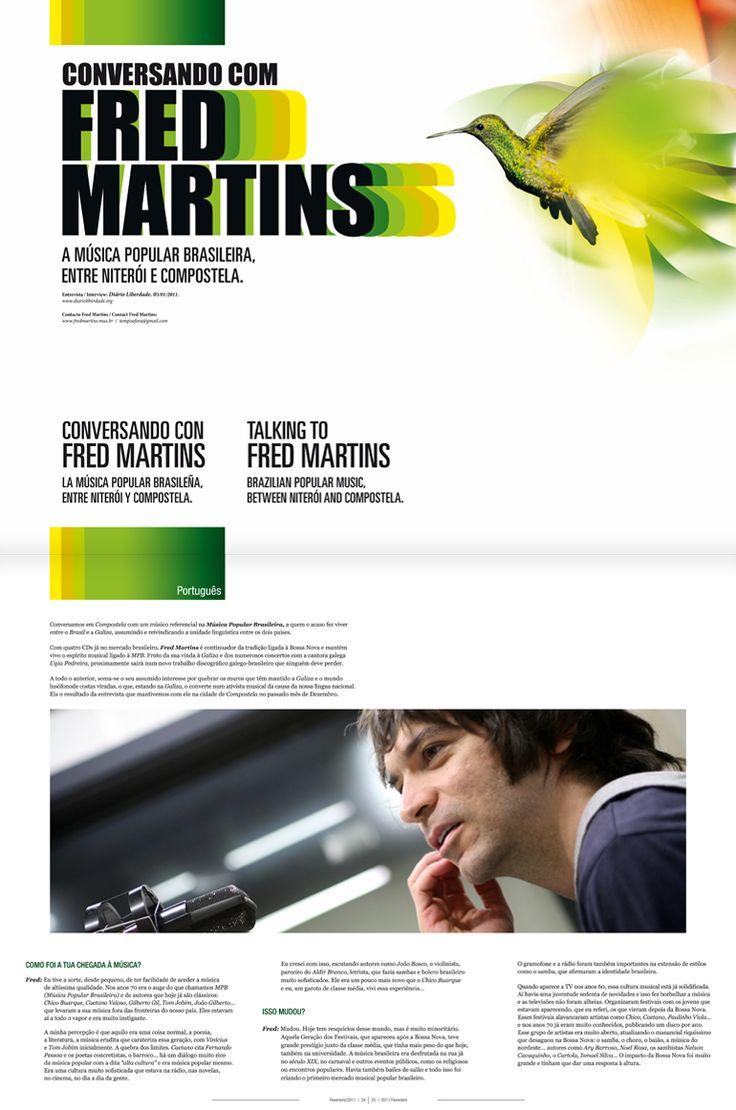 Revista Tintimám 01, Miranda estudio Vigo, Diseño de revistas, diseño editorial, diseño de catálogos, folletos, Fred Martins