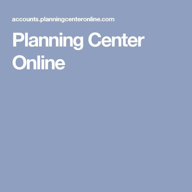 Planning Center Online