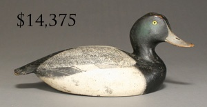 Bluebill drake by the Ward Brothers: Antiques Decoys, Hunt'S Decoys Carvings Fish, Antique Decoys, Wood Decoys, Arts General Ducks Decoys, Decoys Scrimshaw, Hunting Decoys Carving Fish, Wooden Decoys, Shorebird Decoys
