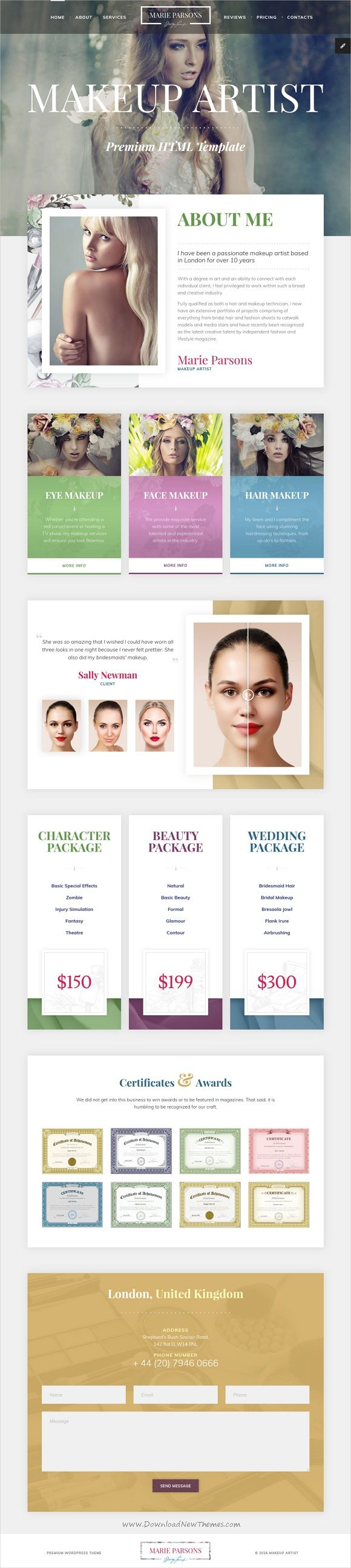 beginner makeup artist resume%0A Makeup Artist  Art HTML Template with Page Builder and Dashboard pages
