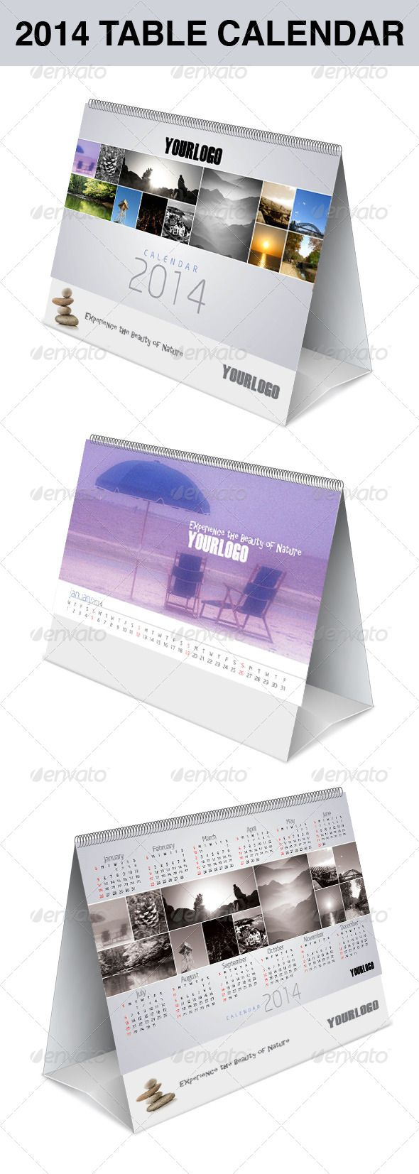2014 table calendar  #GraphicRiver         creative 2014 table calendar  	 Size: 10×6.125 inches  	 Worked in: InDesign CS5 Included in the zip file you will also find an InDesign CS4 (Idml), with base design.  Fonts used: neosans font family  .ulozto /xzjgAU7K/neo-sans-font-family-rar 	 Times new roman regular system font  	 All colors and text are easily customizable. All paragraph styles are properly named. Images area divided in 50% black color layers to help customize each one easily…