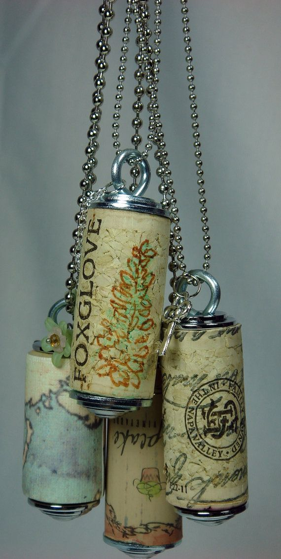 Wine Cork Necklace Pendant Cupcake by BeadazzledBySharon on Etsy