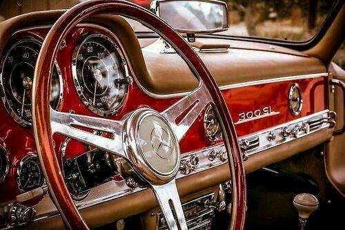 Vintage Mercedes Benz 300 Sl Interior What A Beautiful Classic