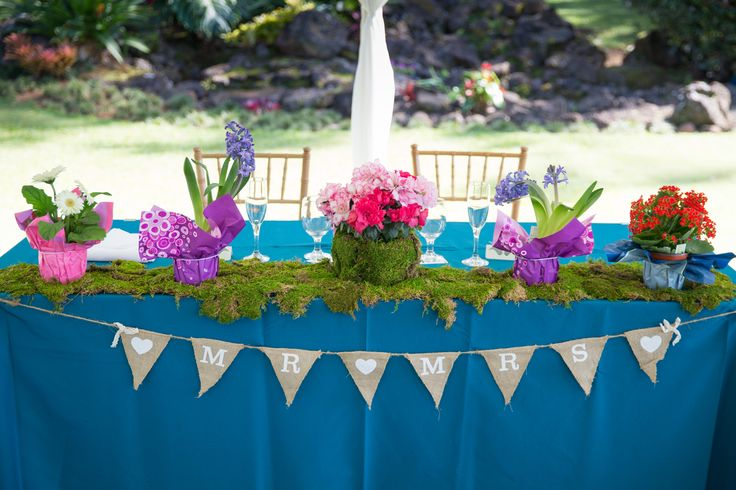 Nature inspired garden reception. Sunset Ranch