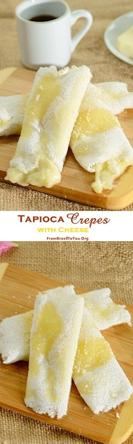 Tapioca crepes --Only 4 ingredients required and ready in less than 10 minutes...The best naturally gluten-free Breakfast ever! #tapioca #glutenfree #breakfast