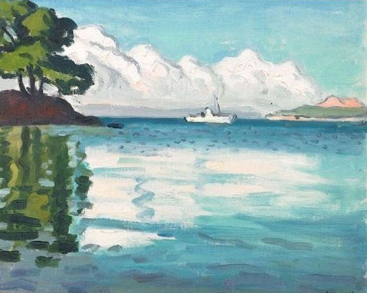 Albert Marquet - Bateau blanc à Porquerolles (1939)