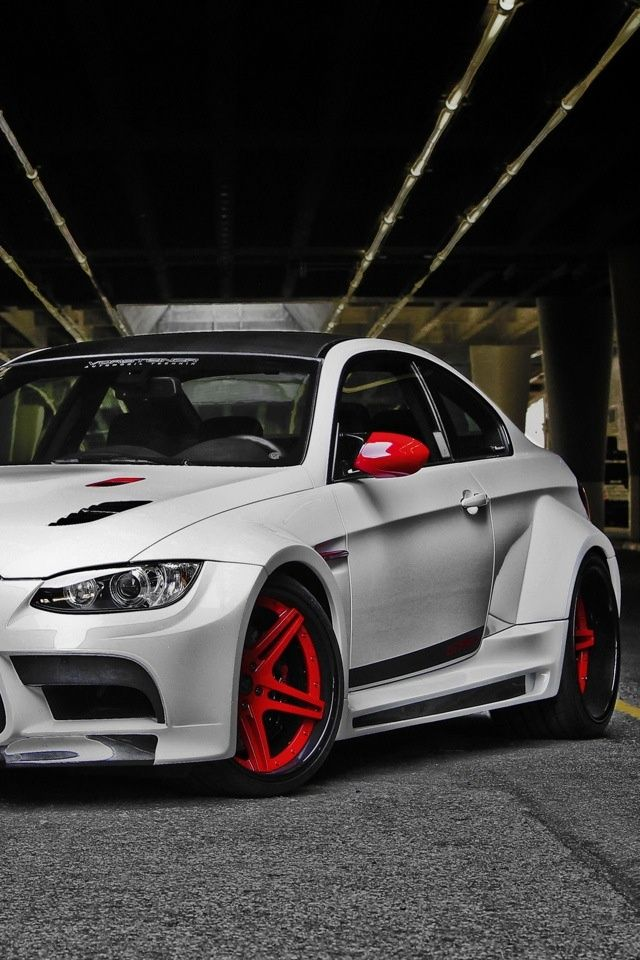 Bmw M3  Dip your wheels red! Ride it until you're tired of it and then just peel it off!