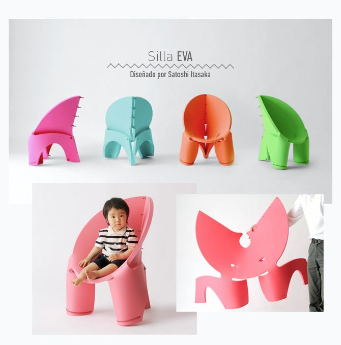 Sillas para niños: Los diseños más sorprendentes en mobiliario infantil.