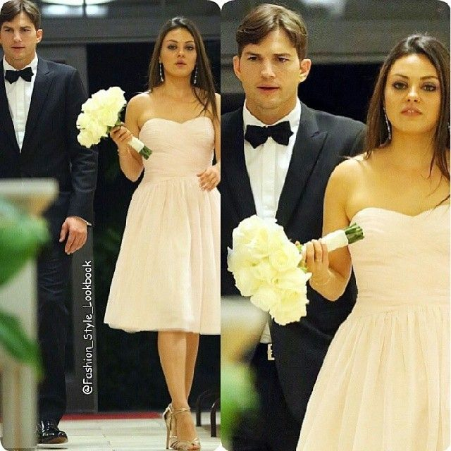 MILA KUNIA ATTENDS HER BROTHERS MARRIAGE WITH ASHTON KUTCHER#milakunis #ashtonkutcher #wedding #bridesmaid #flower #style #fashion #instastyle #instafashion #beautiful #givenchy #gold #glitter #chanel #silver #handbag #accessories #inspiration #hermes #hermesbirkin #celine #celinebag #styleicon #perfection #celebrity #streetstyle #hipster #streetfashion #classy... - Celebrity Fashion