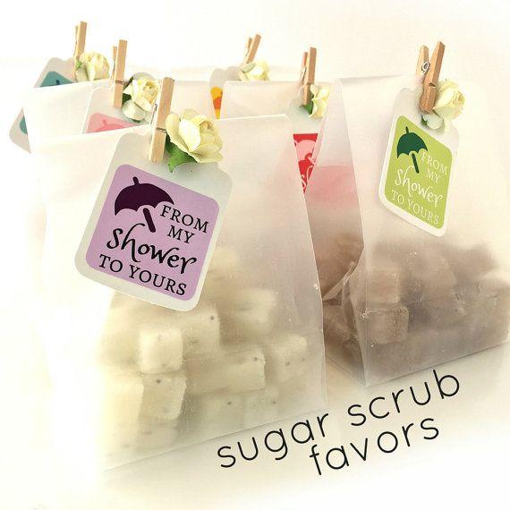 Baby Shower Favors Mini Sugar Scrubs 3.00 each por BButtonsCo