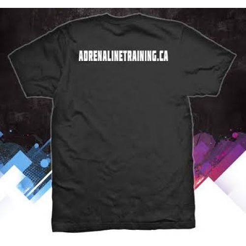 Adrenaline performance T shirt. Made of 100% polyester. Available in sizes small - 3XL.  #adrenalinetraining #adrenalineapparel