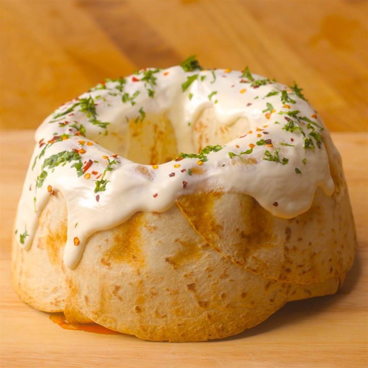 Chicken Fajita Bundt Cake
