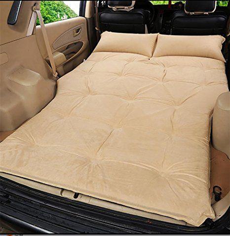 RUIRUI Auto outdoor-Reisen Bett Luftmatratze Matratze hinten SUV-Auto , beige suede 5cm
