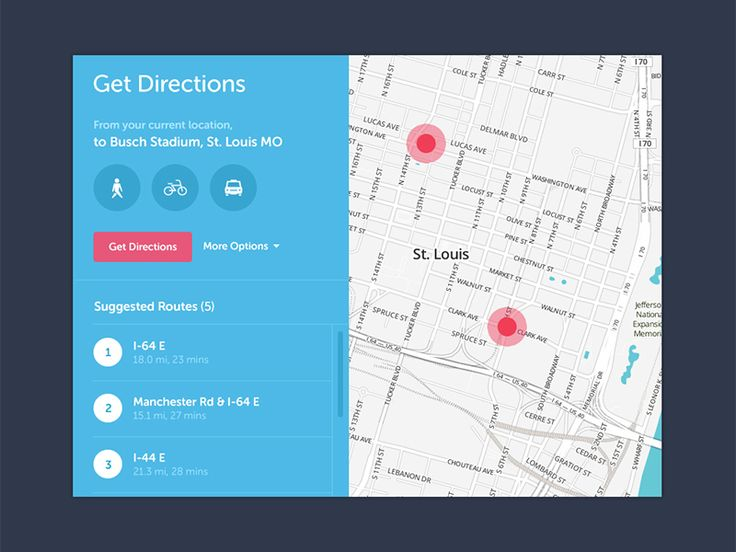 Map UI exploration for a project I am working on. Check out the 2x!