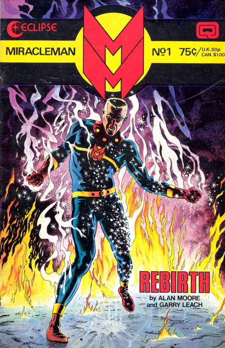 Cover for Miracleman, issue no. 1, written by Alan Moore, illustrated by Gary…