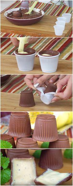 Trufa de Copinho Descartável   Uma ideia simples e deliciosa! #trufa #trufanocopinho #copinhodescartável