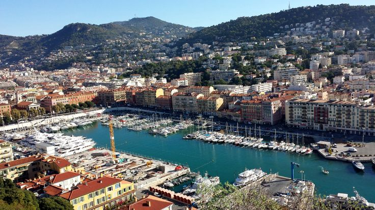 Port de Nice. The port's location is in the heart of the city and connects Corsican destinations with Nice.