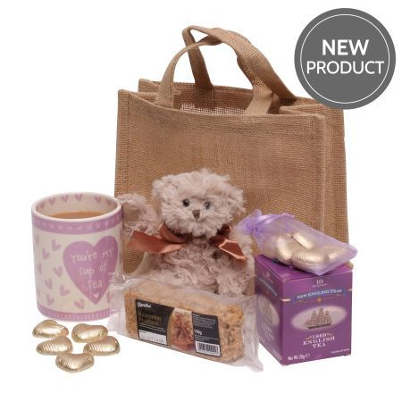 You Are My Cup Of Tea hamper. A beautiful collection of treats for any special occasion. The perfect gift for her, so let her know how much you love her with our quirky 'You're My Cup of Tea' Mug & cute teddy bear. Along with a selection of sweet nibbles & of course the tea bags, Use code AFF10 valid until August 31st 2015 offering 10% OFF entire range of hampers, Find out more at https://www.awin1.com/cread.php?s=551733&v=1253&q=268393&r=197591 # Hampers #Gifts #Tea