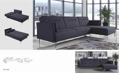 Divani Casa Rixton Modern Grey Fabric Sofa Bed Sectional - Stylish Design Furniture
