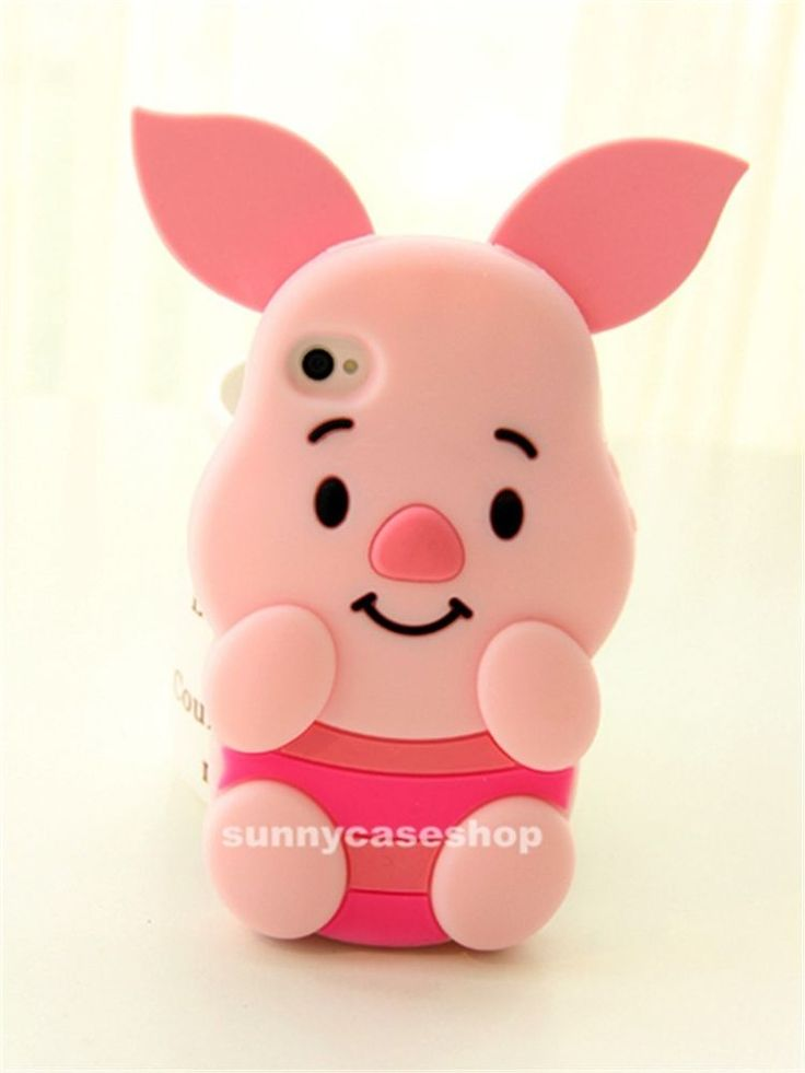 3D Cute Cartoon piglet Pig Silicone Case rubber cover skin for Apple iphone5s 4G