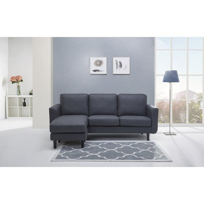 Bring in a stylish, updated look into your home with the Ancheta Convertible Sofa and Ottoman. This set features 3 interchangeable arrangements by using the ottoman individually or on either side of the sofa to convert into a chaise for increased relaxation. With its European style and versatile design, this set will add comfort and compliment any living space.