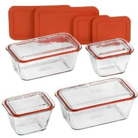 Pyrex Bake And Store Set With Glass And BPA Free Plastic Lids Included. ALL  PYREX. Food Storage ContainersPlastic ...