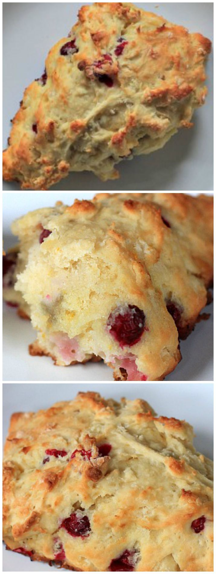These Whole Wheat Cranberry Orange Scones have the perfect flavors! The tart cranberries and hint of orange will make you think its Christmas already!! | joyfulhealthyeats.com