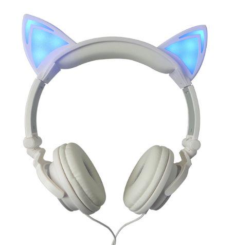 Bluetooth headphones gold over ear - headphones cat ears gold
