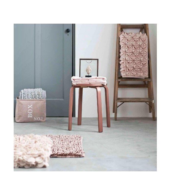 Tapis de bain design coton le style origami rose drage apporte lgance et une ambiance for Ustensile salle de bain