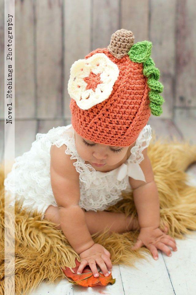 Pumpkin Beanie Crochet Pattern - Ashley Leither Designs 73aa82fea72