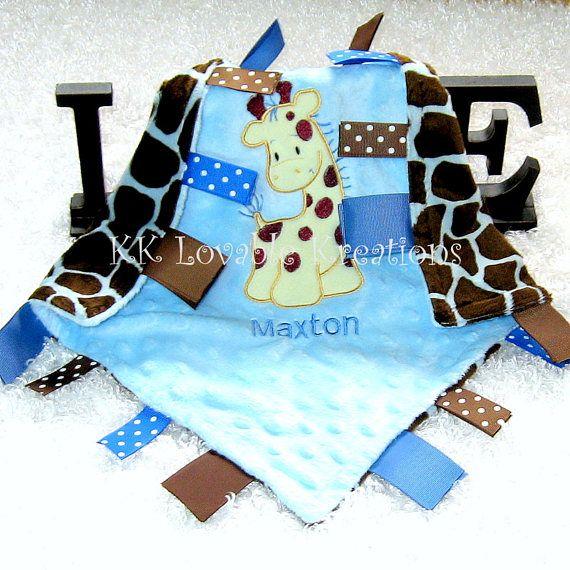 53 best personalized tag blankets images on pinterest tag blanket free personalization just my size super soft giraffe minky lovey lovie lovy negle Gallery