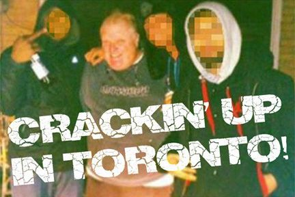 """CCT0115 - This screen-shot was provided by the possessor of the alleged """"Crack Video"""" showing Toronto Mayor Rob Ford smoking crack in early 2013. The police now have the video but it is yet to be released. On November 5, 2013, after months denying allegations, Ford finally admitted that he had smoked crack cocaine """"probably on one of my drunken stupors"""".This photo is not from the """"Crack Video"""", but has become the symbolic image of the video."""