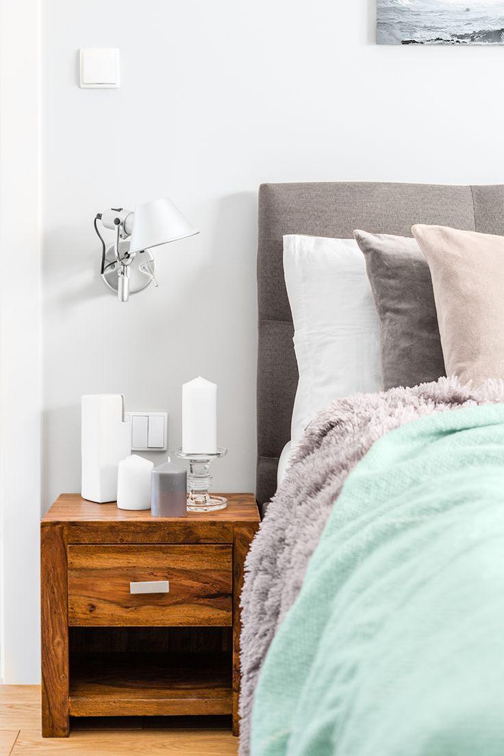 Blue & gray cozy bedroom