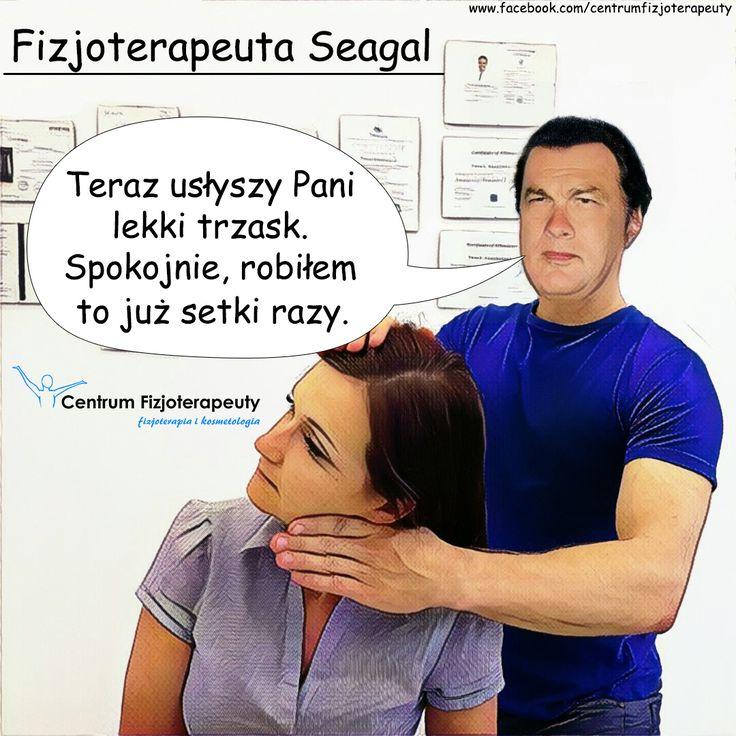 To właśnie będzie robić Steven Seagal na emeryturze :D #humor #fizjoterapia #rehabilitacja #masaż