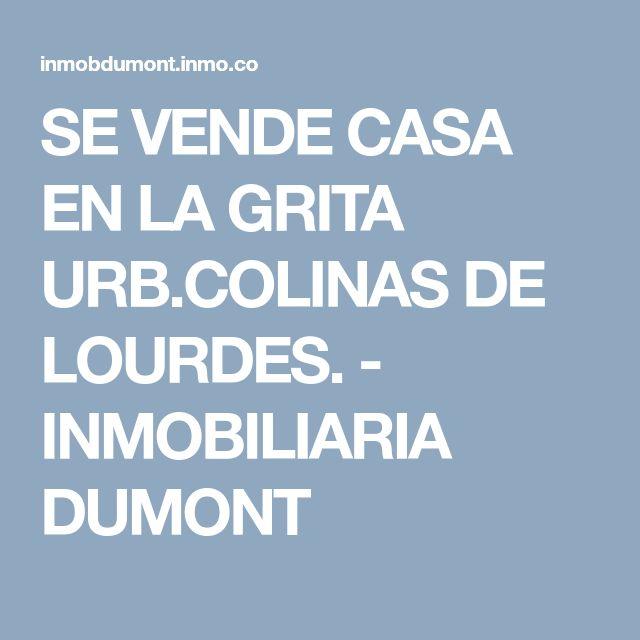 SE VENDE CASA EN LA GRITA URB.COLINAS DE LOURDES. - INMOBILIARIA DUMONT