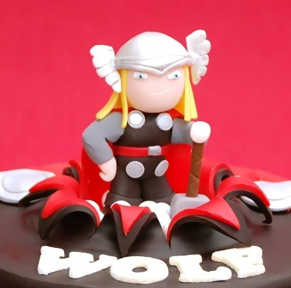Thor Cake: Superheroes Cakes, Cakes And Cupcakes, Superheros Cakes, Cake Ideas, Galletas Cupcakes, Cake Toppers, Thor Birthday Cakes, Thor Cake